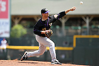 Louisville Bats starting pitcher Tom Cochran #13 delivers a pitch during a game against the Rochester Red Wings at Frontier Field on May 12, 2011 in Rochester, New York.  Louisville defeated Rochester 5-2.  Photo By Mike Janes/Four Seam Images