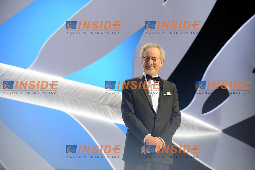 Steven Spielberg  .Cannes 15/5/2013.Festival del Cinema. Cerimonia di Apertura .Foto Panoramic / Insidefoto .ITALY ONLY
