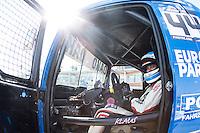 German driver Stephanie Halm belonging German team Stephanie Halm during the fist race R1 of the XXX Spain GP Camion of the FIA European Truck Racing Championship 2016 in Madrid. October 01, 2016. (ALTERPHOTOS/Rodrigo Jimenez) /NortePHOTO /NORTEPHOTO.COM
