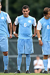 15 August 2014: North Carolina's Colton Storm. The University of North Carolina Tar Heels hosted the Gardner-Webb University Bulldogs at Fetzer Field in Chapel Hill, NC in a 2014 NCAA Division I Men's Soccer preseason match. North Carolina won the exhibition 7-0.