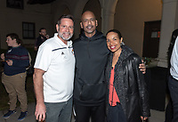 Paul Finchamp '80, Michael Whaley '84 and a guest<br />