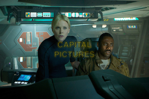 Charlize Theron and Idris Elba .in Prometheus.*Filmstill - Editorial Use Only*.CAP/FB.Supplied by Capital Pictures.