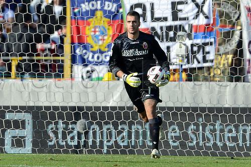 Emiliano Viviano (Bologna), MARCH 6, 2011 - Football : Italian  Series A  match between Bologna 2-2 Cagliari at Renato Dall'Ara Stadium in Bologna, Italy.