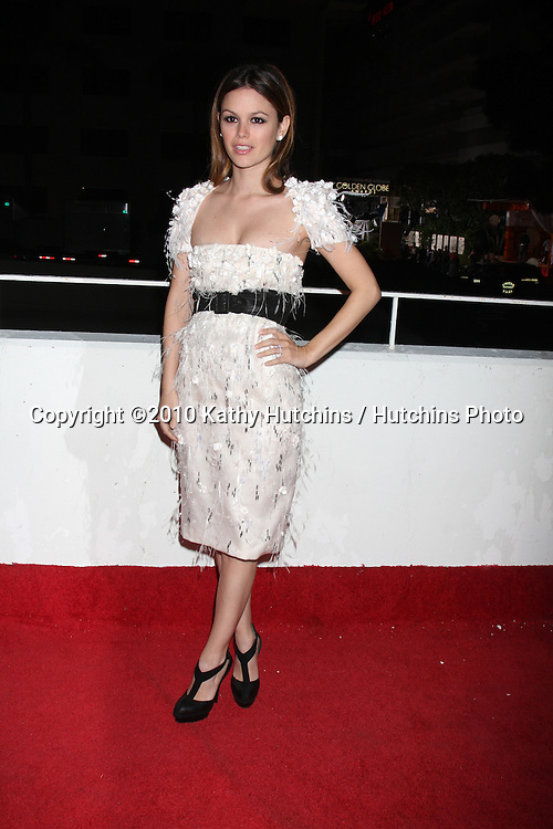 Rachel Bilson.arriving at the 3rd Annual Art of Elysium Gala.Rooftop of Parking Garage across from Beverly Hilton Hotel.Beverly Hills, CA.January 16, 2010.©2010 Kathy Hutchins / Hutchins Photo....