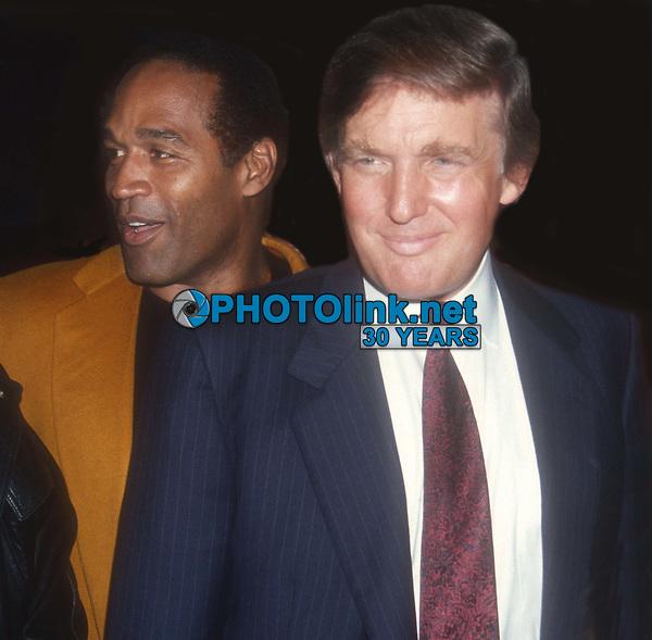 Donald Trump OJ Simpson 1993<br /> Photo By John Barrett/PHOTOlink