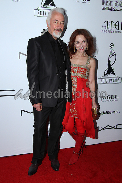 19 February 2017 - Los Angeles, California - Rick Baker and guest<br /> <br /> .2017 Make-Up Artist &amp; Hair Stylists Guild (MUAHS) Awards held at The Novo. Photo Credit: AdMedia