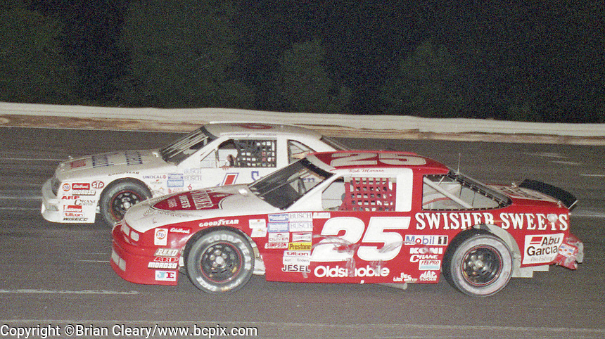Rob Moroso Busch series action Volusia County Speedway Barberville, FL Speedway in Daytona beach, FL on July , 1989. (Photo by Brian Cleary/www.bcpix.com)