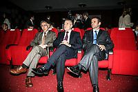 KOSOVO Pristina 9 maggio 2008 Giornata dell'Europa, il Presidente del Kosovo dr. Fatmir Sejdin e il Vice Primo Ministro Hajnedin Kuqi e Jakup Krasniki
