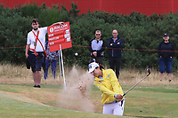 Mi Jung Hur (KOR) on the 18th during Round 2 of the Ricoh Women's British Open at Royal Lytham &amp; St. Annes on Friday 3rd August 2018.<br /> Picture:  Thos Caffrey / Golffile<br /> <br /> All photo usage must carry mandatory copyright credit (&copy; Golffile | Thos Caffrey)