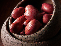 Whole Pecan nuts, stock photos