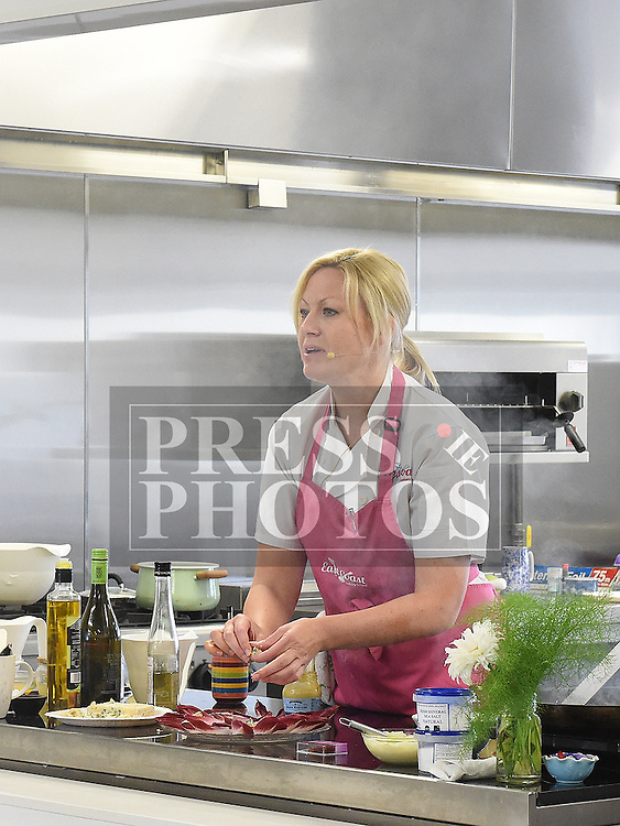 Chef Tara Walker gives a cookery demonstration in the North East Food Hub at Ardee Business Park. Photo:Colin Bell/pressphotos.ie