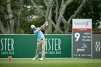 Trevor Fisher JNR (RSA) on the 9th tee during the 3rd round of the AfrAsia Bank Mauritius Open, Four Seasons Golf Club Mauritius at Anahita, Beau Champ, Mauritius. 01/12/2018<br /> Picture: Golffile | Mark Sampson<br /> <br /> <br /> All photo usage must carry mandatory copyright credit (&copy; Golffile | Mark Sampson)