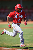 Cincinnati Reds Satchel McElroy (28) during an Instructional League game against the Chicago White Sox on October 11, 2016 at the Cincinnati Reds Player Development Complex in Goodyear, Arizona.  (Mike Janes/Four Seam Images)
