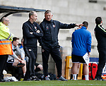 Alan Knill assistant manager and Chris Wilder manager of Sheffield Utd during the English League One match at Vale Park Stadium, Port Vale. Picture date: April 14th 2017. Pic credit should read: Simon Bellis/Sportimage