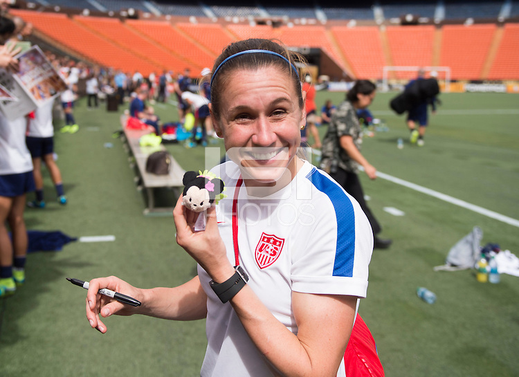 Honolulu, HI - December 5, 2015:  The USWNT trained in preparation for the USWNT Victory Tour match against Trinidad & Tobago at Aloha Stadium.
