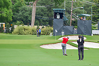 Jon Rahm (ESP) hits his approach shot on 15 during round 4 of the Dean &amp; Deluca Invitational, at The Colonial, Ft. Worth, Texas, USA. 5/28/2017.<br /> Picture: Golffile | Ken Murray<br /> <br /> <br /> All photo usage must carry mandatory copyright credit (&copy; Golffile | Ken Murray)