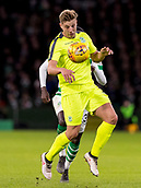 6th February 2019, Celtic Park, Glasgow, Scotland; Ladbrokes Premiership football, Celtic versus Hibernian; Sean Mackie of Hibernian controls the ball off his chest