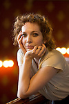 May00648919 . Daily Telegraph<br /> <br /> Arts<br /> <br /> Actress Katherine Parkinson, photographed in the St Pancras Renaissance Hotel .<br /> .<br /> London 15 September 2015