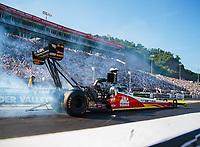 Jun 15, 2018; Bristol, TN, USA; NHRA top fuel driver Doug Kalitta during qualifying for the Thunder Valley Nationals at Bristol Dragway. Mandatory Credit: Mark J. Rebilas-USA TODAY Sports