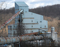 Some of the cleaning facility buildings at the Sago mine where 12 miners died in an explosion are shown  Monday, Jan. 9, 2006, near Buckhannon, WV. (Gary Gardiner/EyePush Newsphotos)<br />