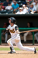 Ryan Curry (6) of the Jacksonville Suns during a game vs. the Carolina Mudcats May 31 2010 at Baseball Grounds of Jacksonville in Jacksonville, Florida. Jacksonville won the game against Carolina by the score of 3-2. Photo By Scott Jontes/Four Seam Images