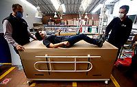 Colombian Factory Makes a Hospital Bed Wich Can be Used as a Coffin