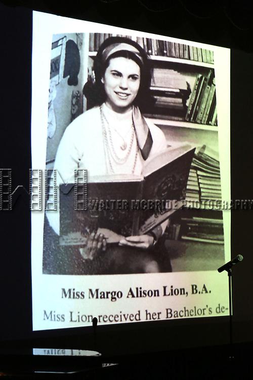 Margo Lion (photo Illustration) during 2015 Vineyard Theatre Gala presentation honoring Margo Lion at Edison Ballroom on March 30, 2015 in New York City.