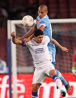 NAPOLI 08/11/2012 - GRUPPO F UEFA  EUROPA LEAGUE.INCONTRO NAPOLI - DNIPRO.NELLA FOTO  GOKHAN INLER.FOTO CIRO DE LUCA