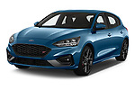 2019 Ford Focus ST Base 5 Door Hatchback angular front stock photos of front three quarter view