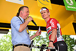 Andre Greipel (GER) Lotto-Soudal at sign on before Stage 8 of the 104th edition of the Tour de France 2017, running 187.5km from Dole to Station des Rousses, France. 8th July 2017.<br /> Picture: ASO/Pauline Ballet | Cyclefile<br /> <br /> <br /> All photos usage must carry mandatory copyright credit (&copy; Cyclefile | ASO/Pauline Ballet)