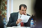 Ohrid - Macedonia - 25 October 2011 -- ETF IPA SOC Network Meeting -- Dukagjin Pupovci in the plenary sessions at Metropol Hotel, Ohrid -- PHOTO: Ard JONGSMA / EUP-IMAGES