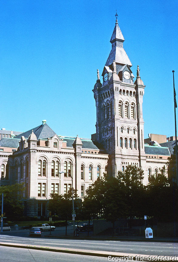 Buffalo: Old County Hall, 1871-76, 92 Franklin St.  Architect Andrew J. Warner. Photo '88.