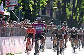 19th May 2017, Tortona, Piemonte, Italy; Giro D italia; Tstage 13 Reggio Emilia to Tortona; Fernando Gaviria  Quick - Step Floors; Gaviria Rendon, Fernando wins the stage in Tortona
