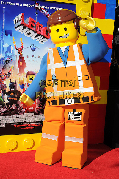 1 February 2014 - Westwood, California - Atmosphere, Emmet. &quot;The Lego Movie&quot; Los Angeles Premiere held at the Regency Village Theater.  <br /> CAP/ADM/BP<br /> &copy;Byron Purvis/AdMedia/Capital Pictures