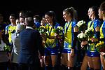24.02.2019, SAP Arena, Mannheim<br /> Volleyball, DVV-Pokal Finale, Siegerehrung<br /> <br /> Ralina Doshkova (#3 Schwerin) mit Medaille / Goldmedaille<br /> <br />   Foto © nordphoto / Kurth