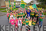 Streets paved with Green and Gold Residents of New Marian Park putting up bunting in support of the Kerry Teams for the All Ireland Final