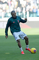 2nd February 2020; Allianz Stadium, Turin, Italy; Serie A Football, Juventus versus Fiorentina; Douglas Costa of Juventus during the warm-up