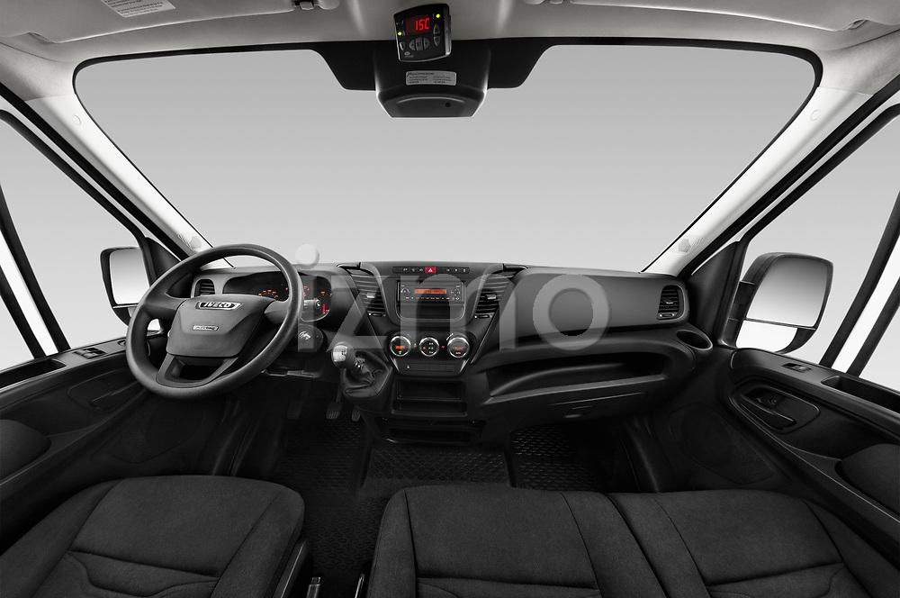 Stock photo of straight dashboard view of 2018 Iveco Daily 35S 4 Door Cargo Van Dashboard