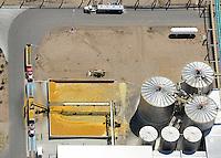 Corn shipping facility. Near Windsor, Colorado. August 2009
