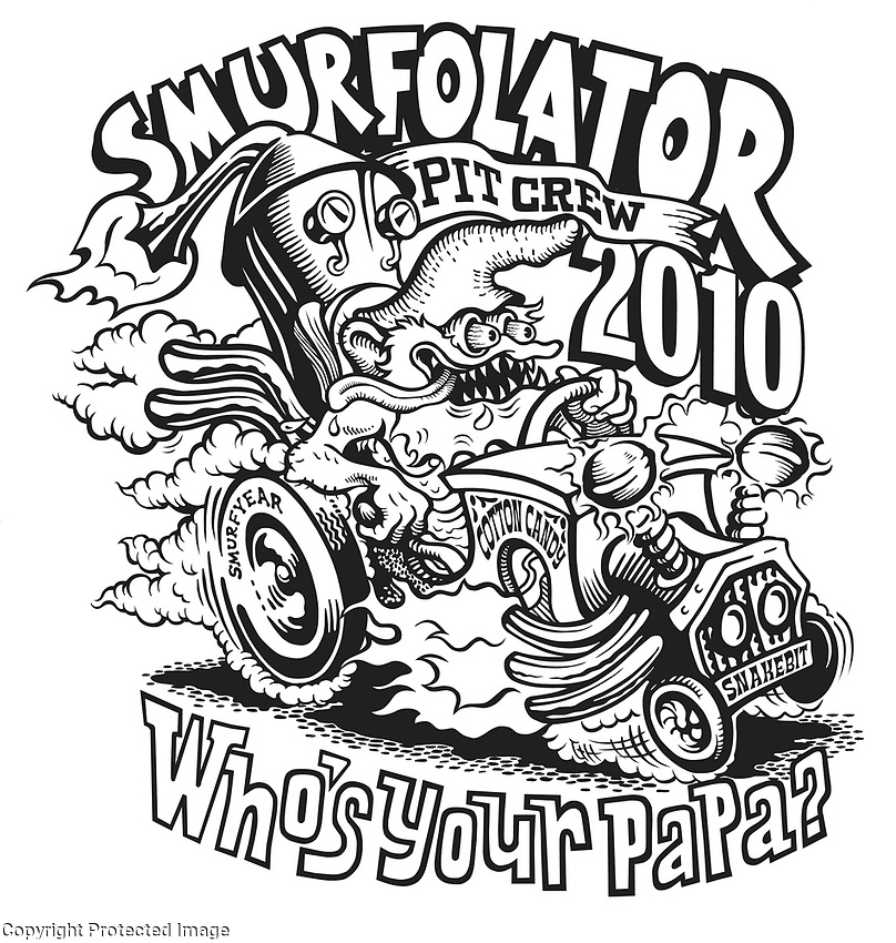 """The designer asked me to create an Art Department T-Shirt illustration… and I came up with this homage to Ed """"Big Daddy"""" Roth."""