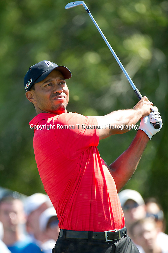 March 25, 2012: Tiger Woods on the 7th tee during final round golf action of the Arnold Palmer Invitational held at Arnold Palmer's Bay Hill Club & Lodge in Orlando, FL