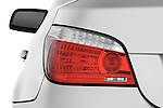 Tail light close up detail view of a 2009 BMW 5 Series 528