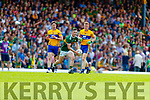 Paul Murphy Kerry in action against Pearse Lillis Clare during the Munster GAA Football Senior Championship semi-final match between Kerry and Clare at Fitzgerald Stadium in Killarney on Sunday.