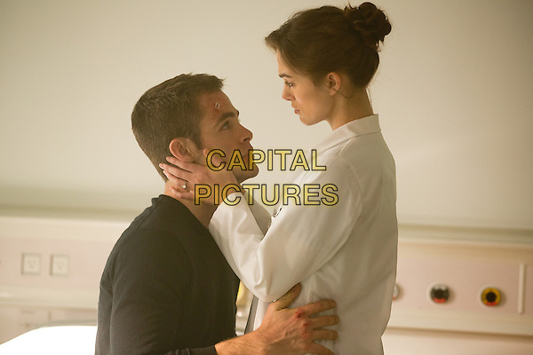 Chris Pine &amp; Keira Knightley <br /> in Jack Ryan: Shadow Recruit (2014) <br /> *Filmstill - Editorial Use Only*<br /> CAP/FB<br /> Image supplied by Capital Pictures
