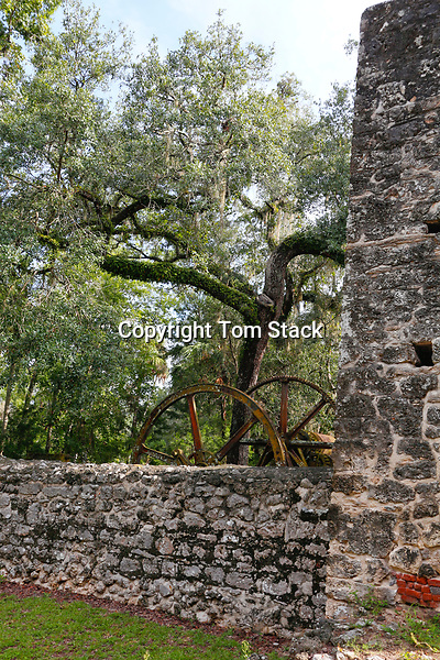 Yulee Sugar Mill Ruins Historic State Park, Homosassa, Florida. At Homosassa, David Yulee established a sugarcane plantation, which was destroyed during the American Civil War. The original plantation covered more than 5,000 acres (2,000 ha), and was worked by approximately 1,000 enslaved African Americans. They raised sugarcane, citrus, and cotton. The large mill (which was steam-driven) ran from 1851 to 1864. It produced sugar, syrup and molasses.