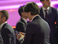 Bundestrainer Joachim Loew (Deutschland Germany) mit seinem Handy - 30.11.2019: UEFA EURO2020 Auslosung, Romexpo Bukarest, DISCLAIMER: UEFA regulations prohibit any use of photographs as image sequences and/or quasi-video.