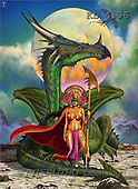 Interlitho, Lorenzo, MODERN, paintings, dragon, moon(KL4196,#N#)