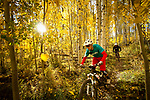 Fall Mountain Biking - Color and BW