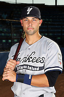 Staten Island Yankees outfielder Shane Brown poses for a photo before a game vs. the Jamestown Jammers at Russell Diethrick Park in Jamestown Jammers, New York July 15, 2010.   Jamestown defeated Staten Island 5-1.  Photo By Mike Janes/Four Seam Images