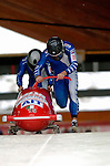 19 November 2005: Simone Bertazzo pilots the Italy 2 sled to an 8th place finish at the 2005 FIBT AIT World Cup Men's 2-Man Bobsleigh Tour at the Verizon Sports Complex, in Lake Placid, NY. Mandatory Photo Credit: Ed Wolfstein.